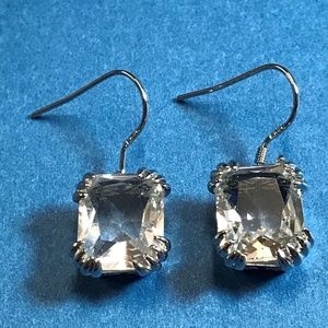 Jewelry - Sterling Silver and Clear Crystal Earrings
